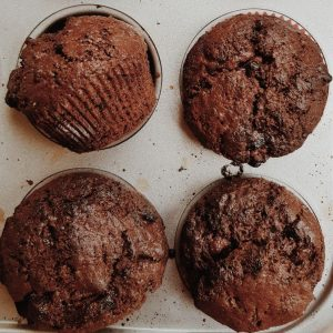 Double Chocolate Nutella Muffins