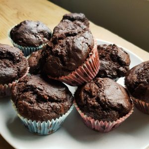 Banana Double Chocolate Muffins